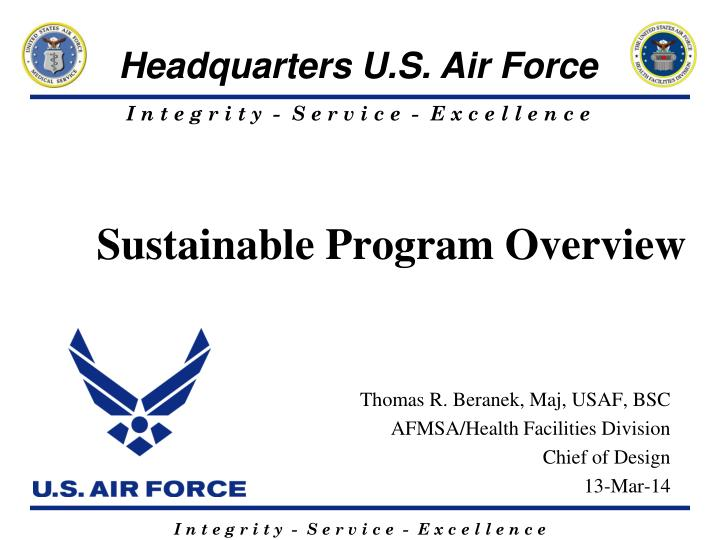sustainable program overview n.