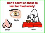 don t count on these to test for food safety