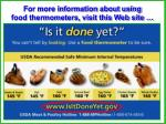 for more information about using food thermometers visit this web site