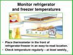 monitor refrigerator and freezer temperatures