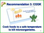 recommendation 3 cook
