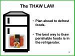 the thaw law