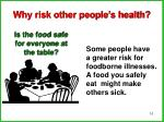 why risk other people s health