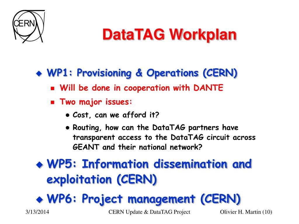 DataTAG Workplan