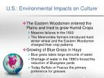 u s environmental impacts on culture