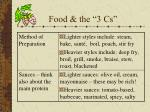 food the 3 cs1
