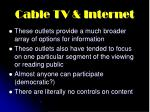 cable tv internet