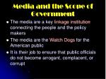 media and the scope of government