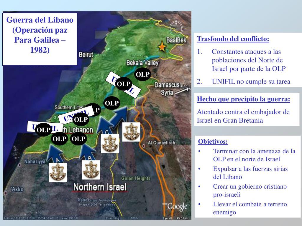Guerra del Libano (Operación paz Para Galilea – 1982)