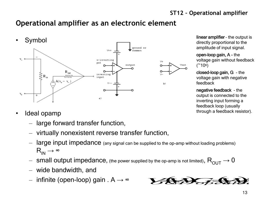 PPT - Operational amplifier PowerPoint Presentation - ID:470086