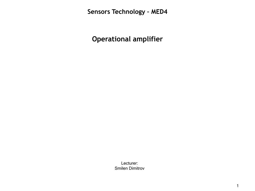 Ppt Operational Amplifier Powerpoint Presentation Id470086 Singlesupply Instrumentation L