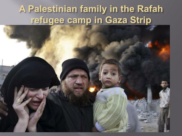 A Palestinian family in the