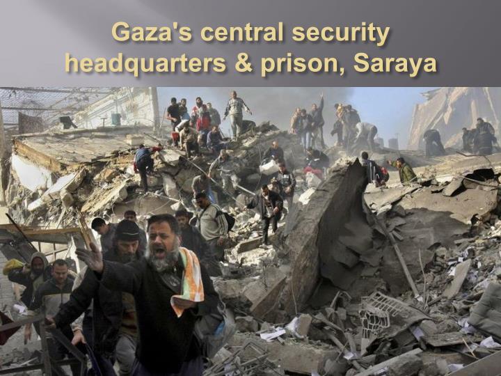 Gaza's central security headquarters & prison,