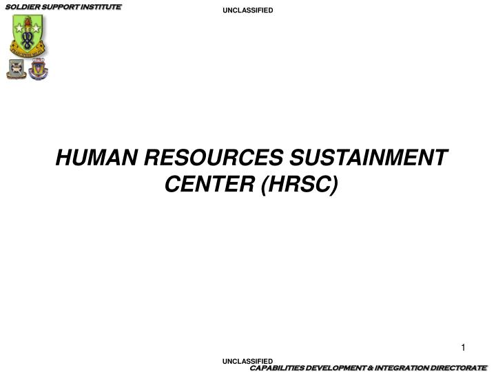 human resources sustainment center hrsc n.