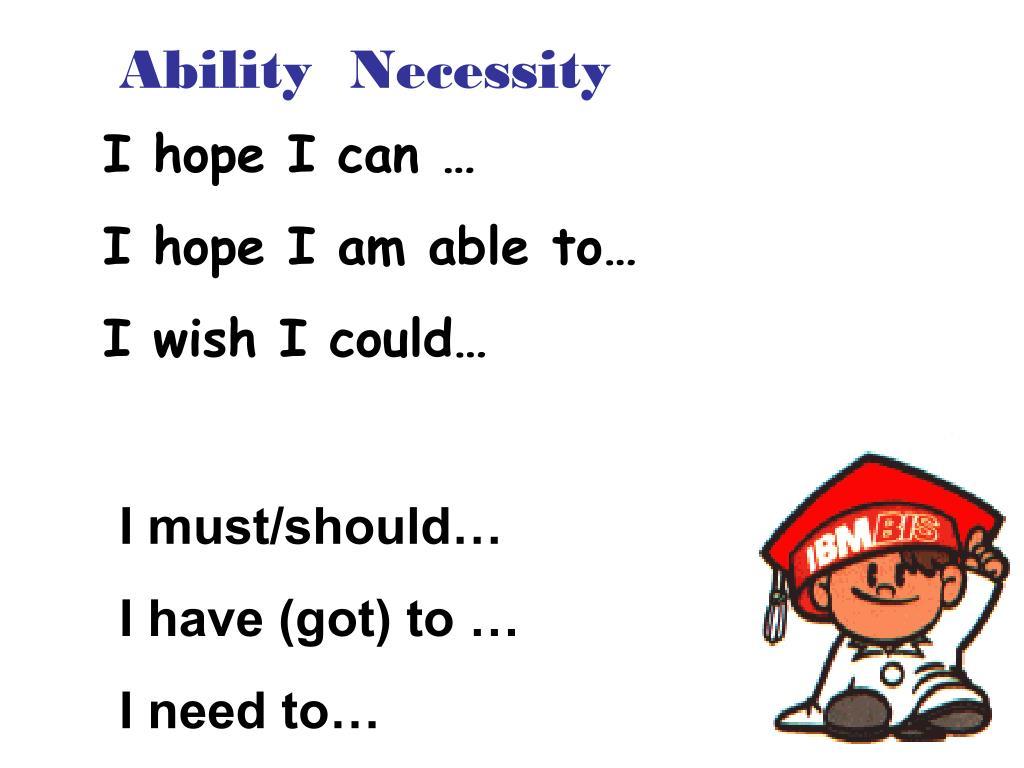 Ability  Necessity