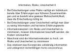 information risiko unsicherheit ii
