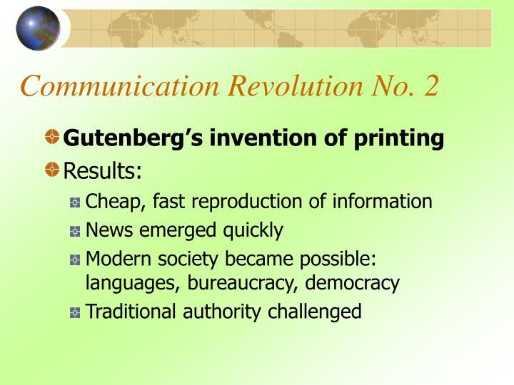 Communication revolution no 2