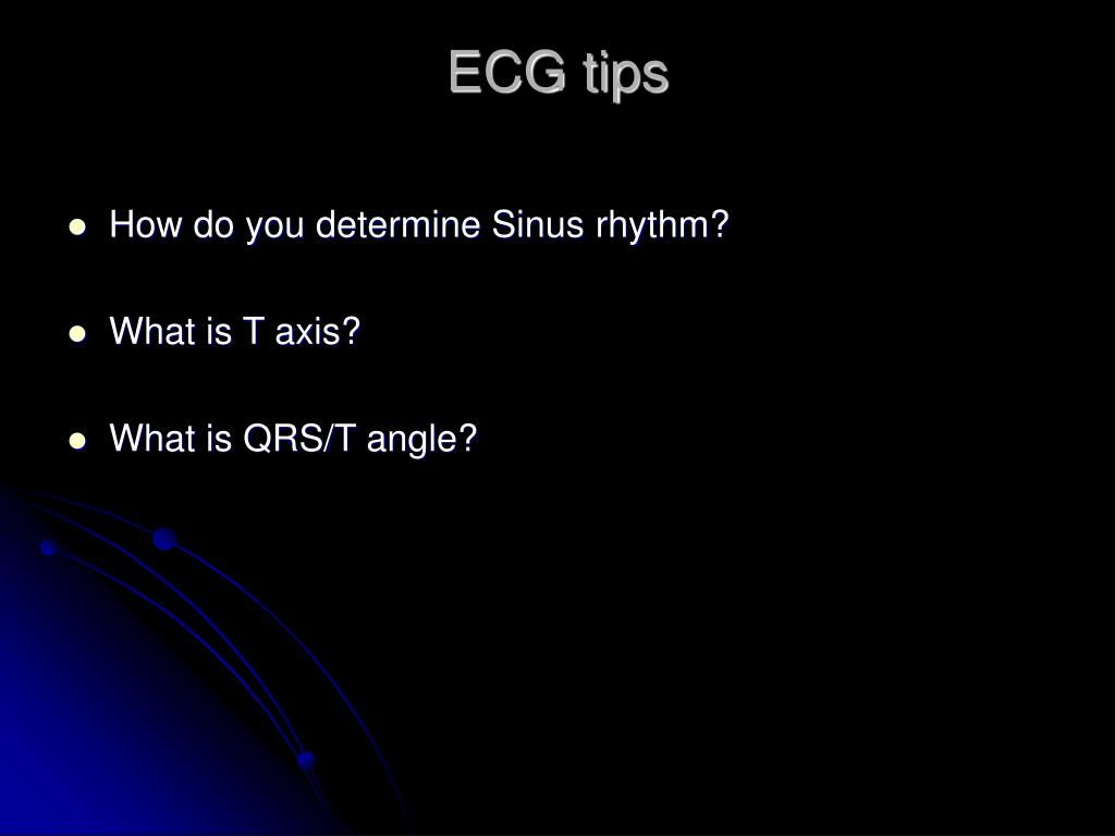 ECG tips