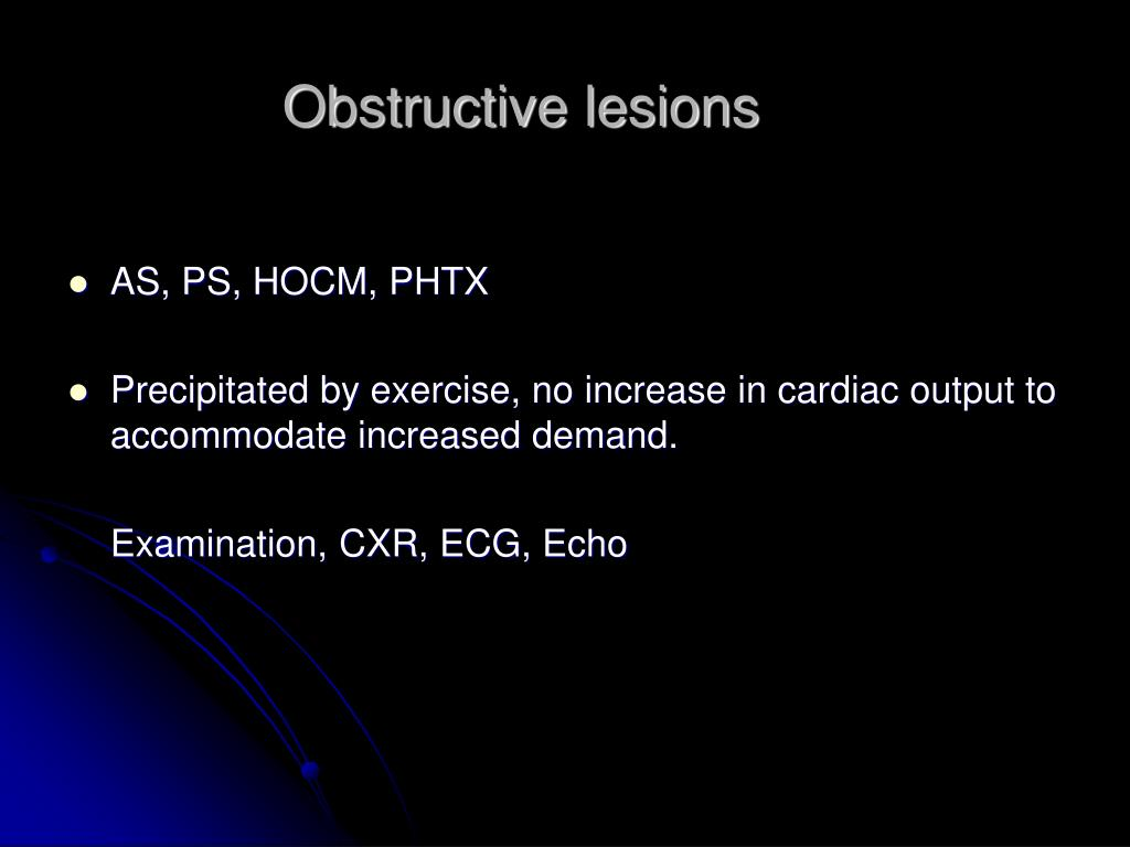 Obstructive lesions