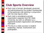 club sports overview