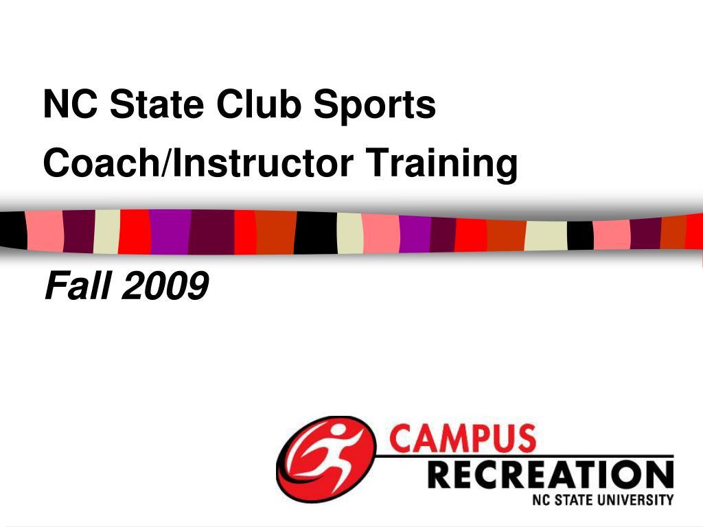 coach instructor training l.