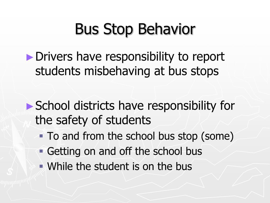 Bus Stop Behavior