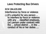 laws protecting bus drivers