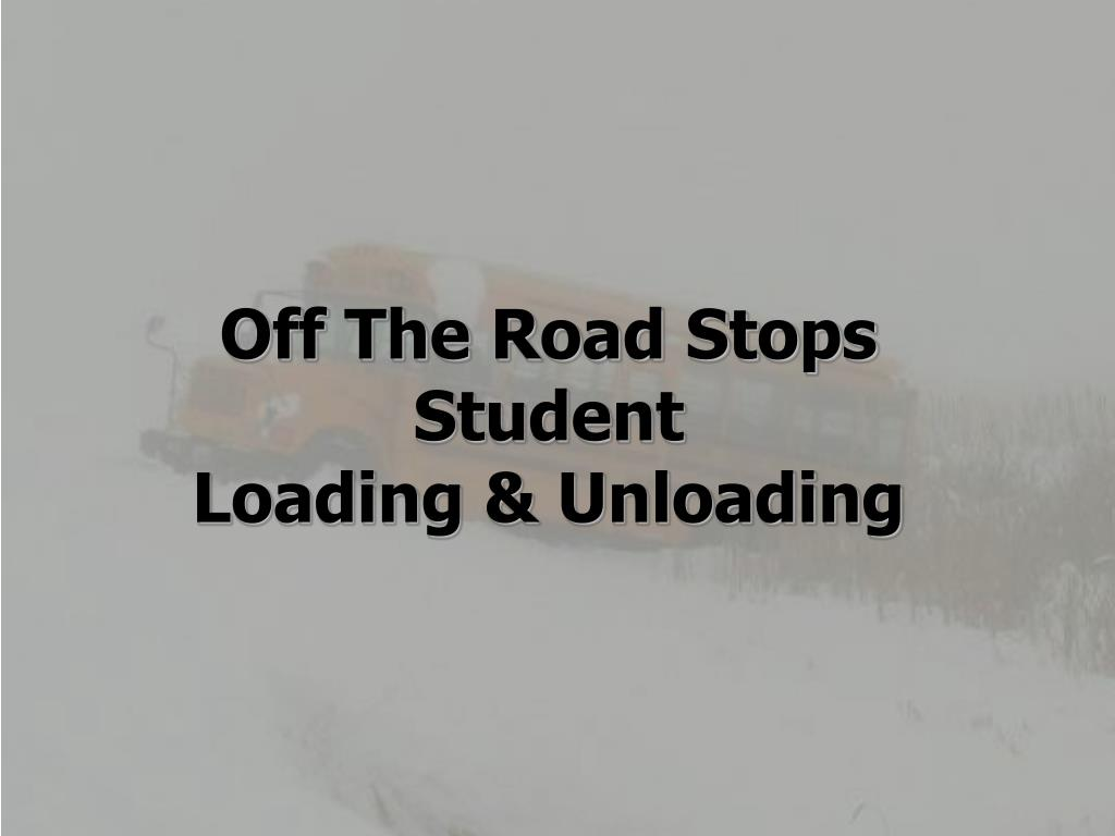 Off The Road Stops