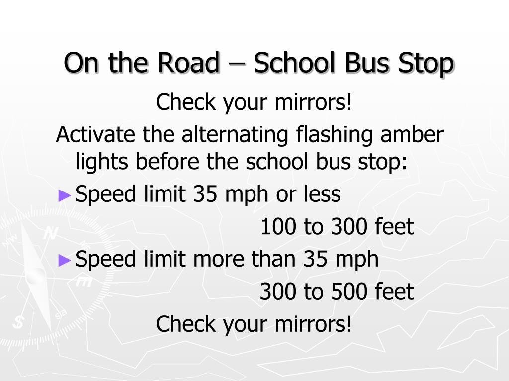 On the Road – School Bus Stop