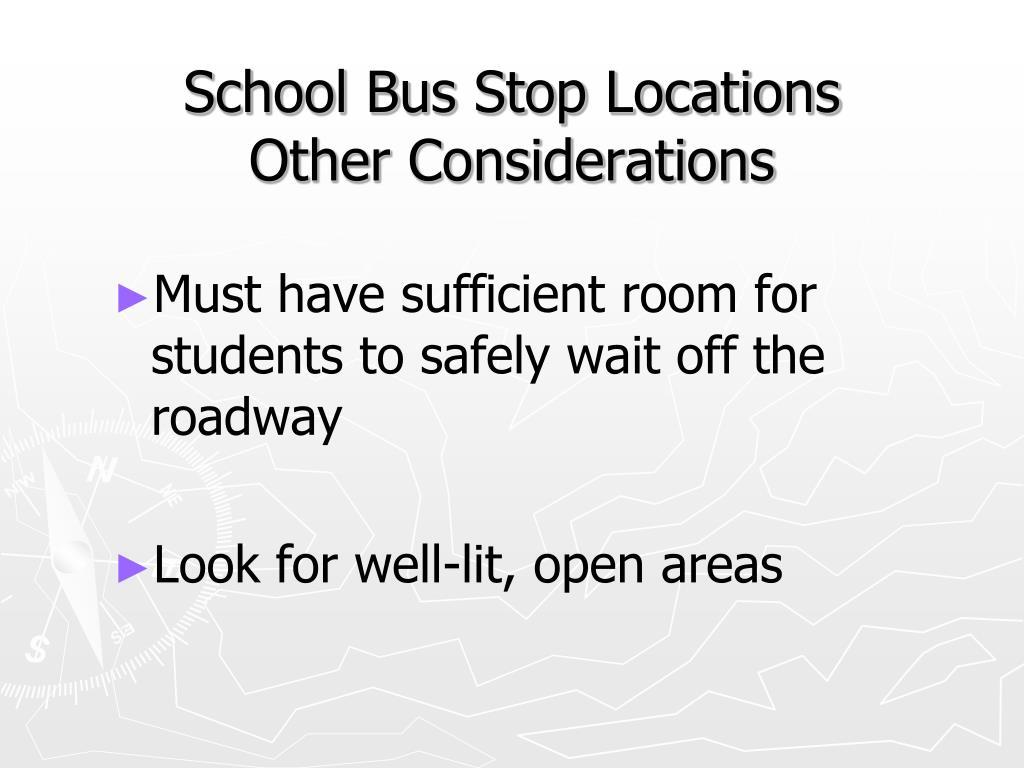 School Bus Stop Locations