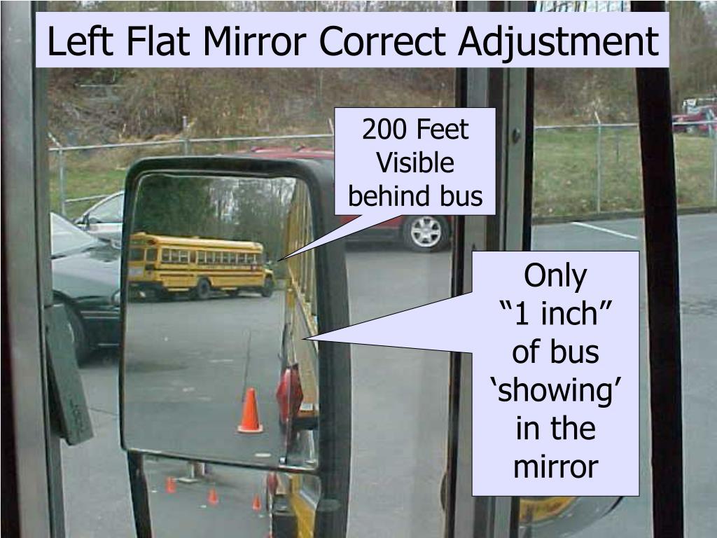 Left Flat Mirror Correct Adjustment
