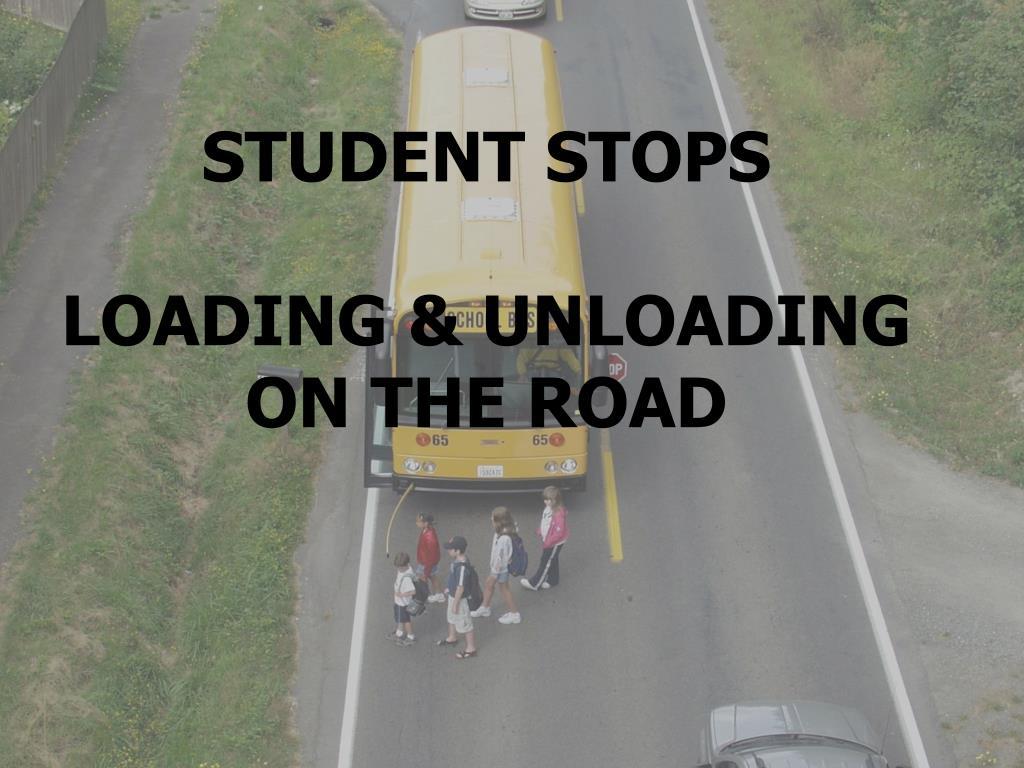 STUDENT STOPS