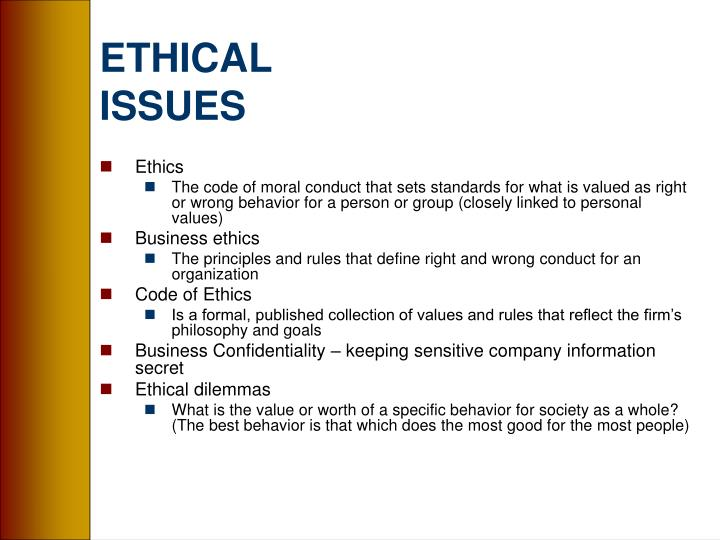 ethical enviromental issues Environmental ethics is the ethical relationship between people and the environment in which we live there are many ethical issues and decisions that people make, within the respect of the environment environmental quality is necessary for human life people rebuild their environments every day.