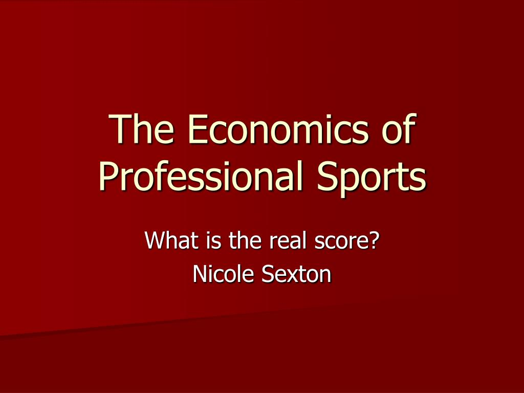 the economics of professional sports l.