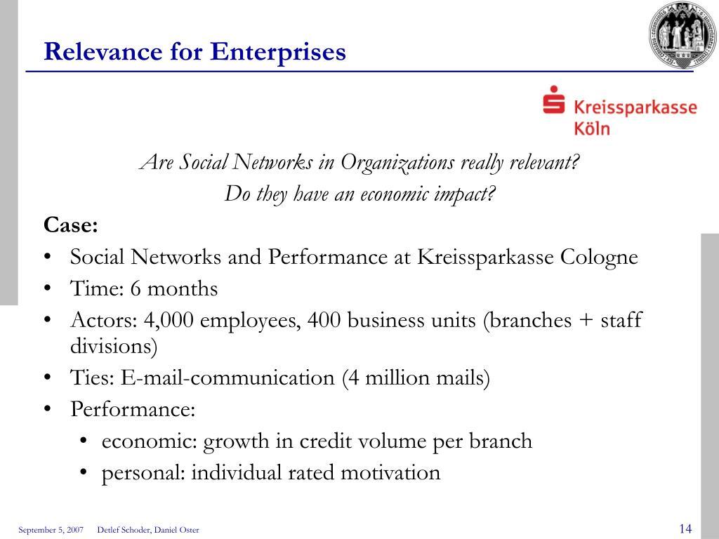 Relevance for Enterprises