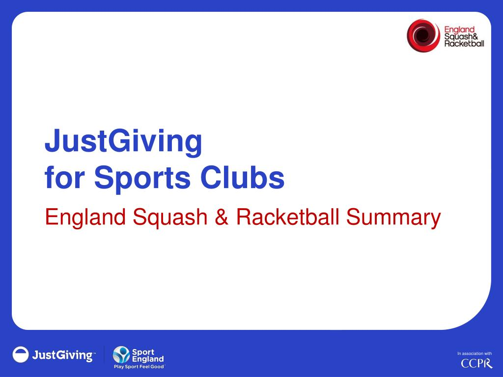 justgiving for sports clubs l.