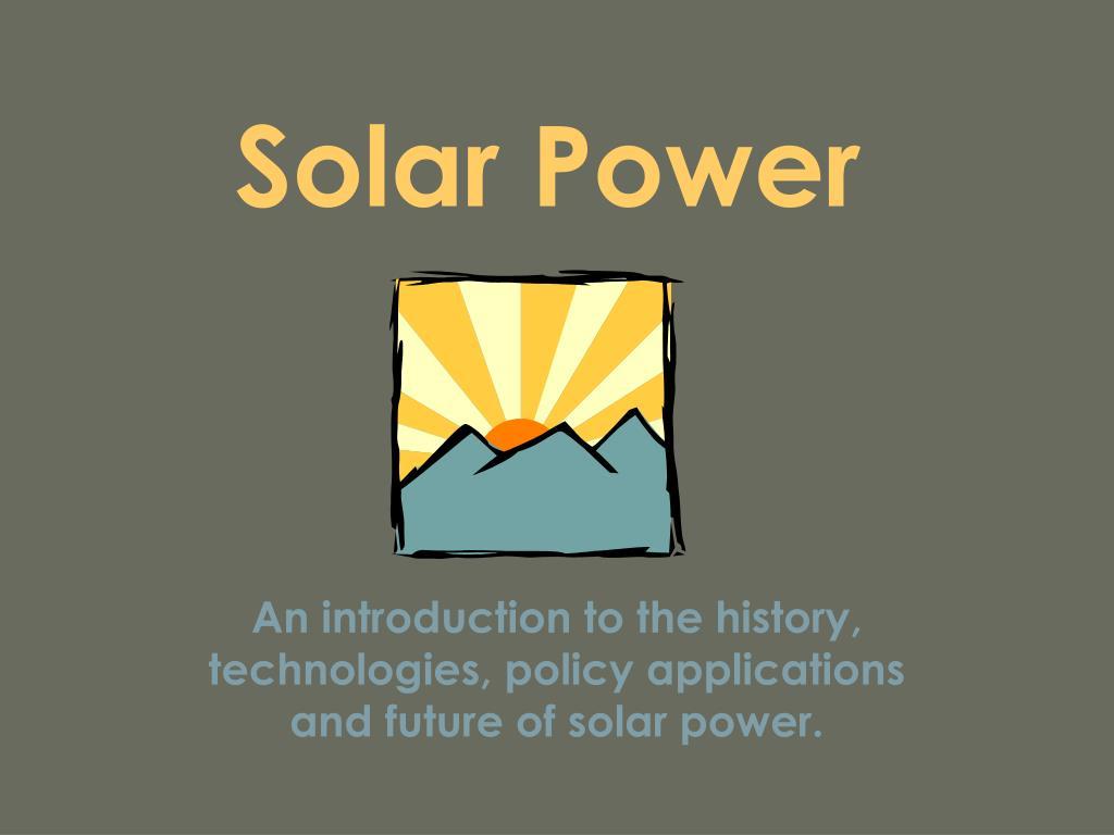 solar power l.