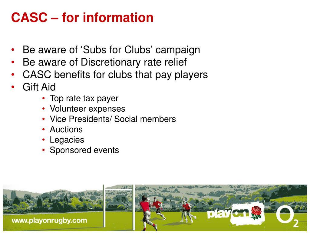 CASC – for information