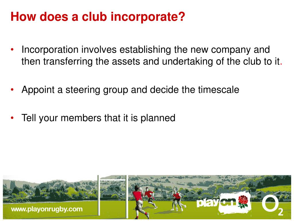 How does a club incorporate?