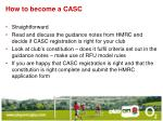 how to become a casc