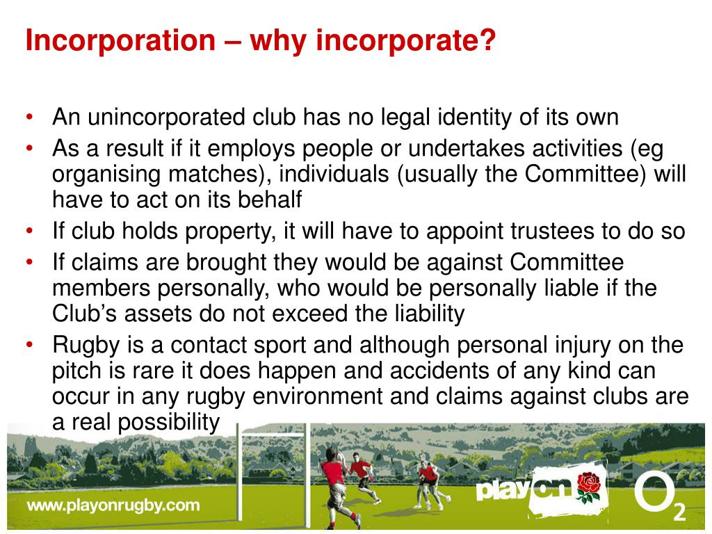 Incorporation – why incorporate?