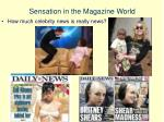 sensation in the magazine world1