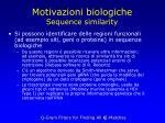 motivazioni biologiche sequence similarity