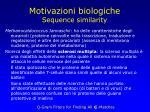 motivazioni biologiche sequence similarity5