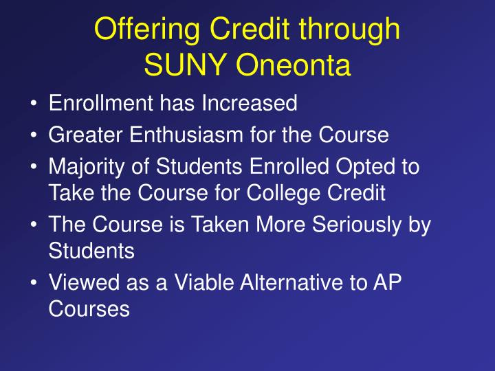 Offering Credit through