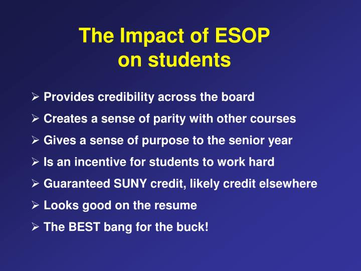 The Impact of ESOP