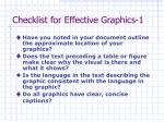 checklist for effective graphics 1