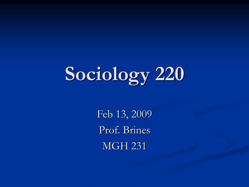 sociology 220 l.