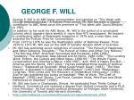 george f will