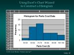 using excel s chart wizard to construct a histogram45